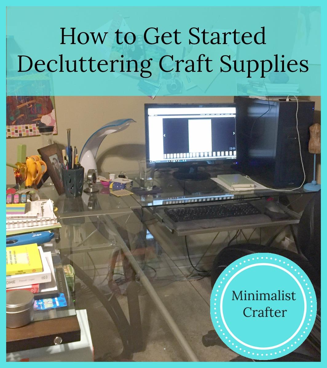 decluttering craft supplies office