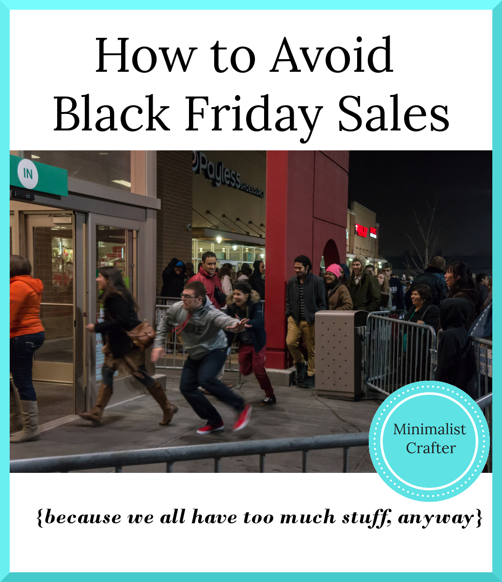 How to avoid Black Friday and Cyber Monday sales.