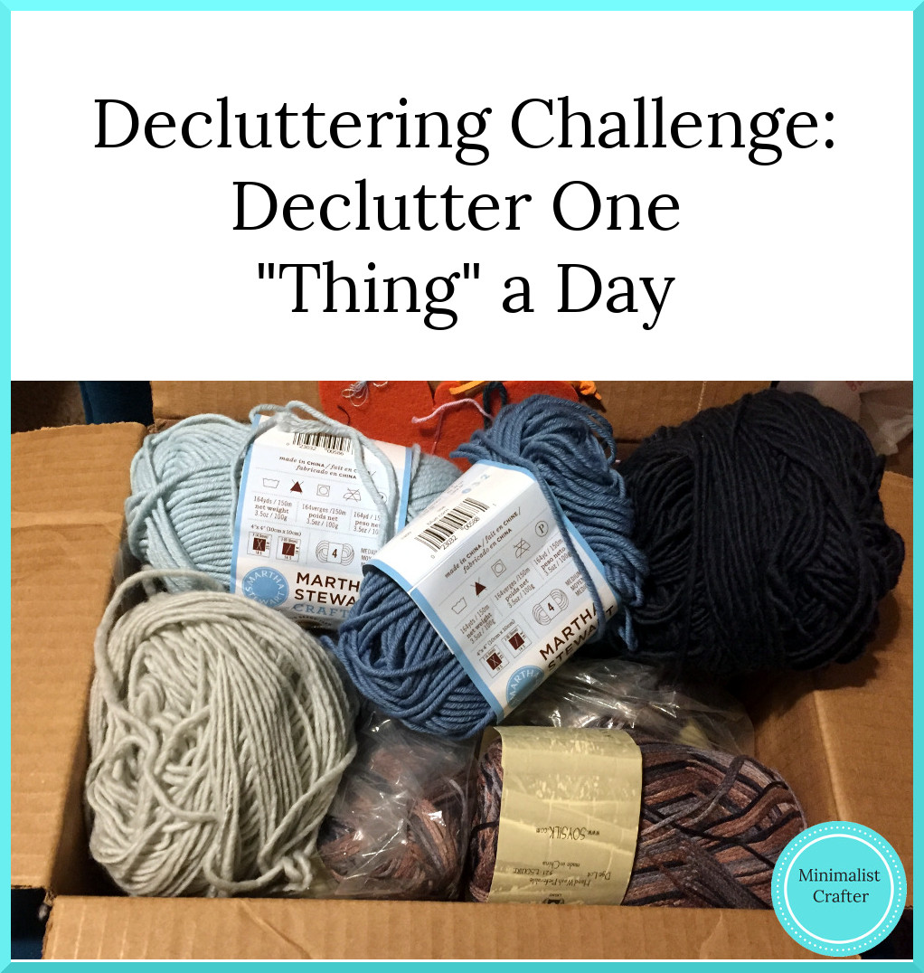 decluttering challenge: can you declutter one thing a day?