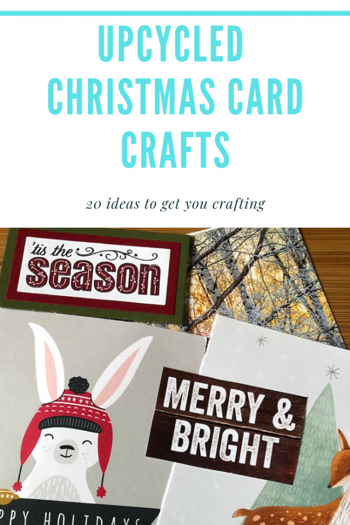 upcycled christmas card crafts